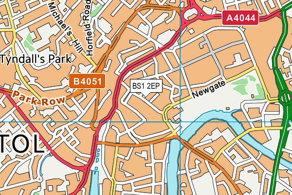 BS1 2EP map - OS VectorMap District (Ordnance Survey)