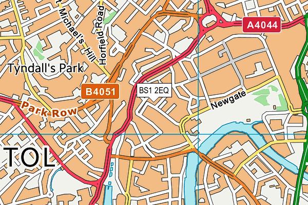 BS1 2EQ map - OS VectorMap District (Ordnance Survey)