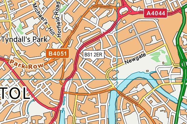 BS1 2ER map - OS VectorMap District (Ordnance Survey)