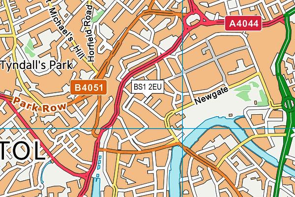BS1 2EU map - OS VectorMap District (Ordnance Survey)