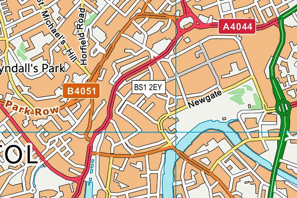 BS1 2EY map - OS VectorMap District (Ordnance Survey)