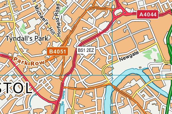 BS1 2EZ map - OS VectorMap District (Ordnance Survey)