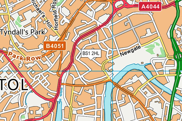 BS1 2HL map - OS VectorMap District (Ordnance Survey)