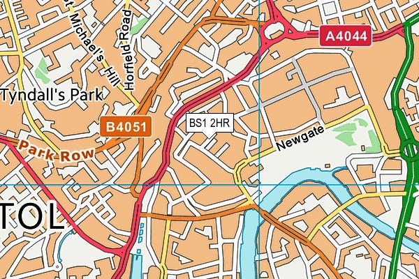 BS1 2HR map - OS VectorMap District (Ordnance Survey)