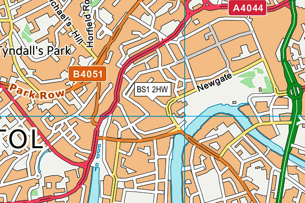 BS1 2HW map - OS VectorMap District (Ordnance Survey)