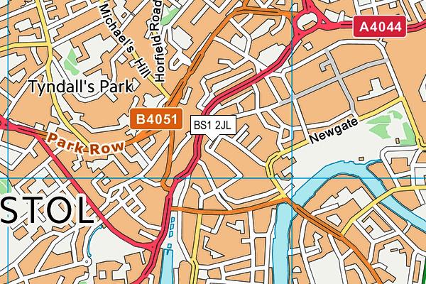 BS1 2JL map - OS VectorMap District (Ordnance Survey)