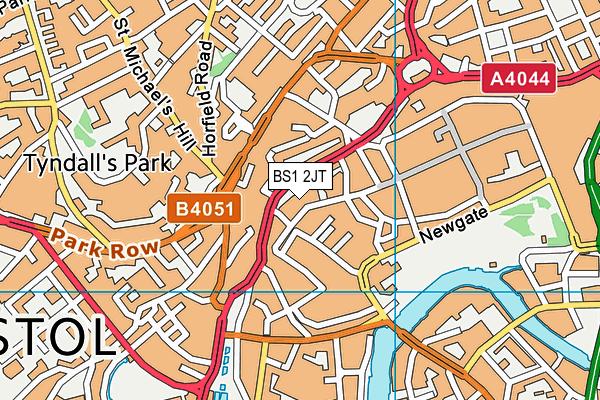 BS1 2JT map - OS VectorMap District (Ordnance Survey)