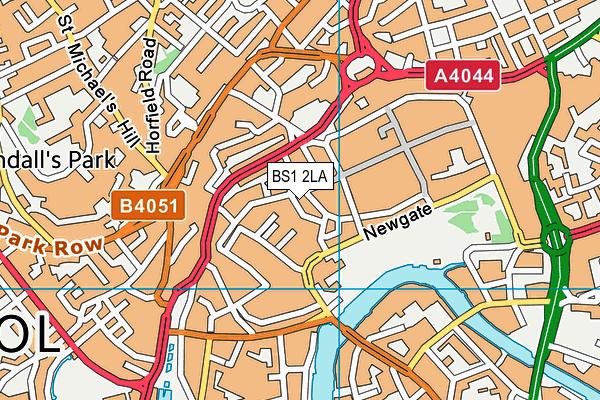BS1 2LA map - OS VectorMap District (Ordnance Survey)
