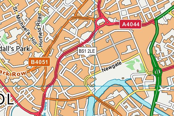 BS1 2LE map - OS VectorMap District (Ordnance Survey)