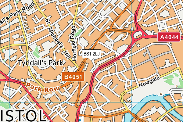 BS1 2LJ map - OS VectorMap District (Ordnance Survey)