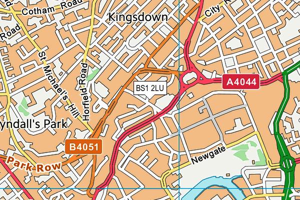 BS1 2LU map - OS VectorMap District (Ordnance Survey)