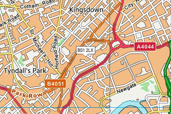 BS1 2LX map - OS VectorMap District (Ordnance Survey)