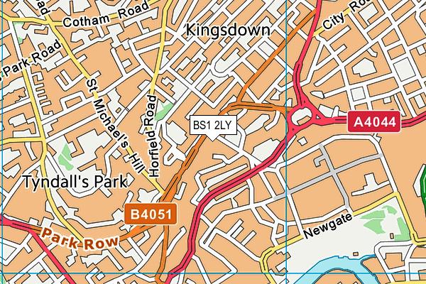 BS1 2LY map - OS VectorMap District (Ordnance Survey)