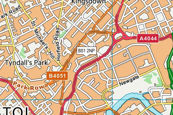 BS1 2NP map - OS VectorMap District (Ordnance Survey)