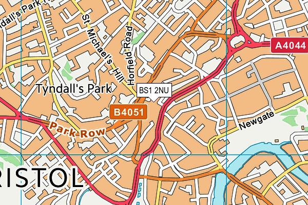 BS1 2NU map - OS VectorMap District (Ordnance Survey)