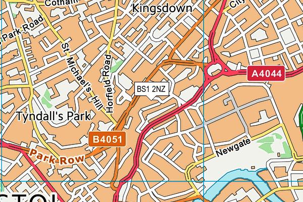 BS1 2NZ map - OS VectorMap District (Ordnance Survey)