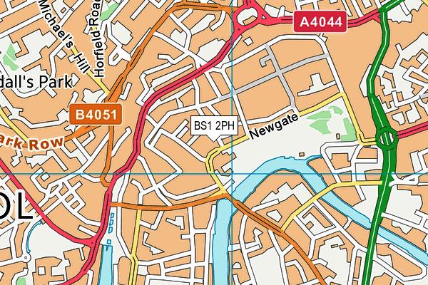 BS1 2PH map - OS VectorMap District (Ordnance Survey)