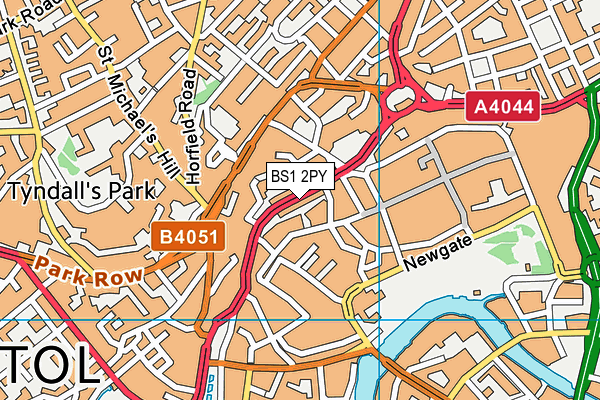 BS1 2PY map - OS VectorMap District (Ordnance Survey)
