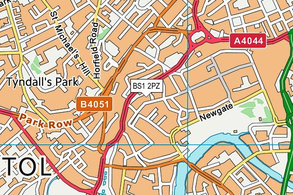 BS1 2PZ map - OS VectorMap District (Ordnance Survey)