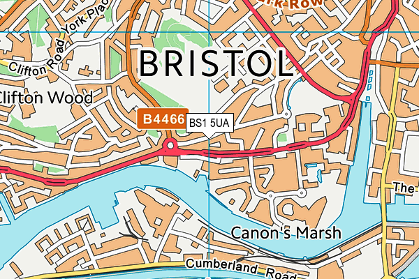 City of Bristol College map (BS1 5UA) - OS VectorMap District (Ordnance Survey)
