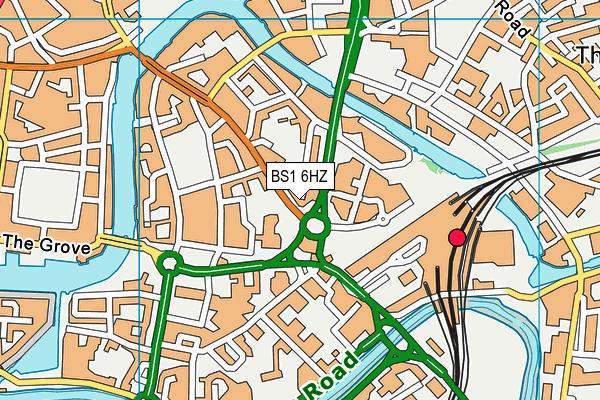 BS1 6HZ map - OS VectorMap District (Ordnance Survey)