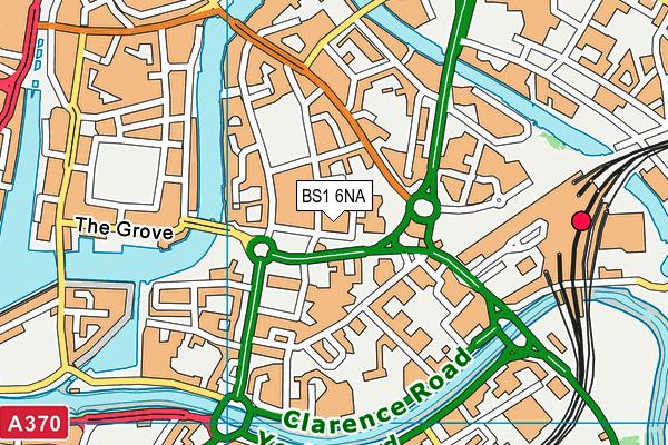 BS1 6NA map - OS VectorMap District (Ordnance Survey)