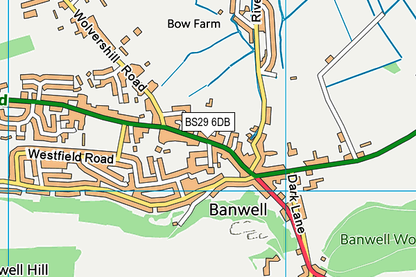 Banwell Primary School map (BS29 6DB) - OS VectorMap District (Ordnance Survey)