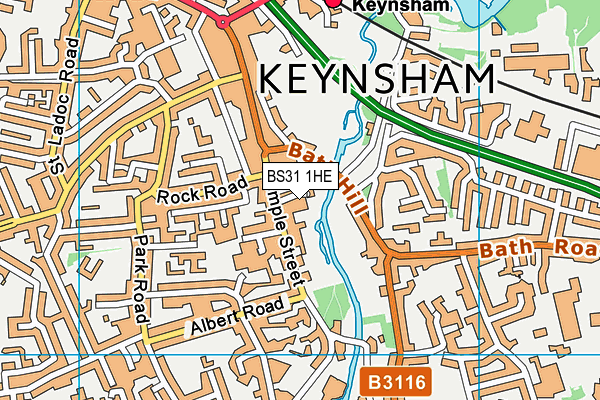 Keynsham Leisure Centre map (BS31 1HE) - OS VectorMap District (Ordnance Survey)