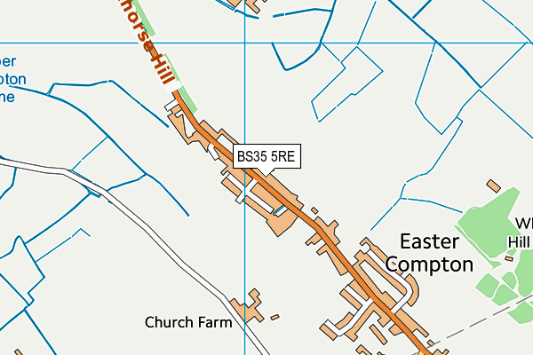 Map of MARKET SQUARE CATERING EASTER COMPTON LTD at district scale
