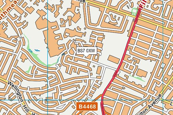 Horfield Leisure Centre map (BS7 0XW) - OS VectorMap District (Ordnance Survey)