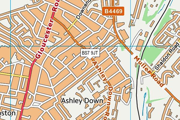 Brunel Field Primary School map (BS7 9JT) - OS VectorMap District (Ordnance Survey)