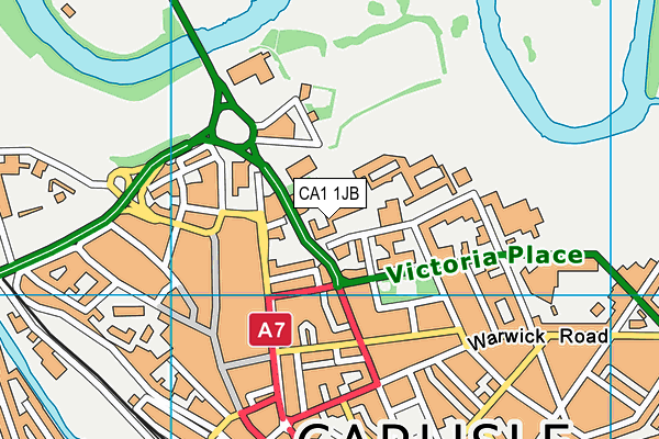 Trinity Leisure Centre map (CA1 1JB) - OS VectorMap District (Ordnance Survey)