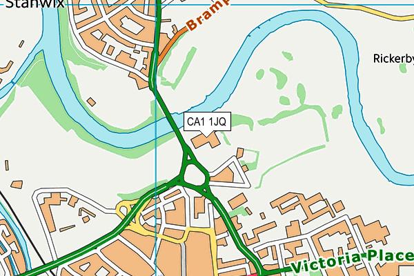 The Sands Leisure Centre map (CA1 1JQ) - OS VectorMap District (Ordnance Survey)