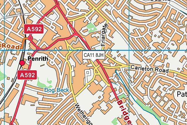 Penrith Leisure Centre map (CA11 8JH) - OS VectorMap District (Ordnance Survey)