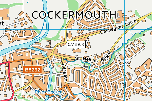 Cockermouth Leisure Centre map (CA13 9JR) - OS VectorMap District (Ordnance Survey)