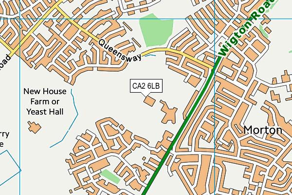 Morton Leisure Centre map (CA2 6LB) - OS VectorMap District (Ordnance Survey)