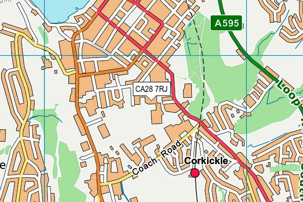 Whitehaven Sports Centre map (CA28 7RJ) - OS VectorMap District (Ordnance Survey)