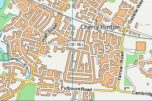 Cherry Hinton Village Leisure Centre map (CB1 9EJ) - OS VectorMap District (Ordnance Survey)