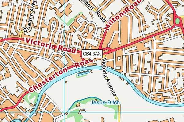 Jesus Green Lido map (CB4 3AX) - OS VectorMap District (Ordnance Survey)