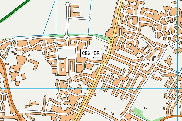 CB6 1DR map - OS VectorMap District (Ordnance Survey)