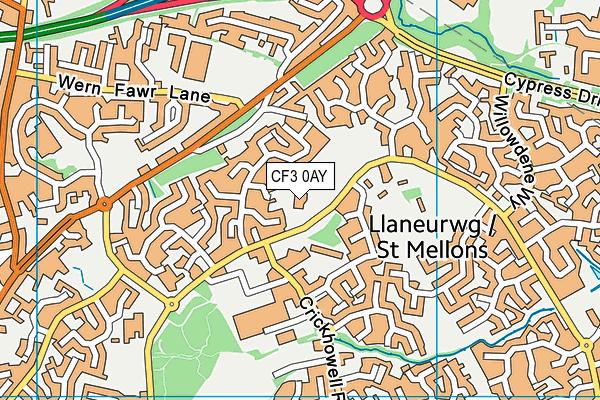 Bishop Childs C.I.W. Primary School map (CF3 0AY) - OS VectorMap District (Ordnance Survey)