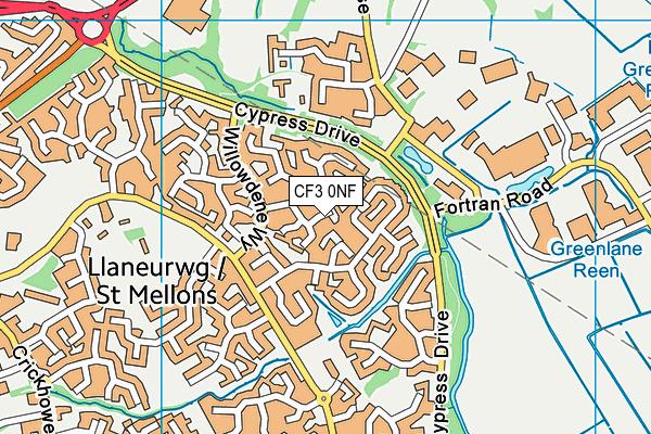CF3 0NF map - OS VectorMap District (Ordnance Survey)