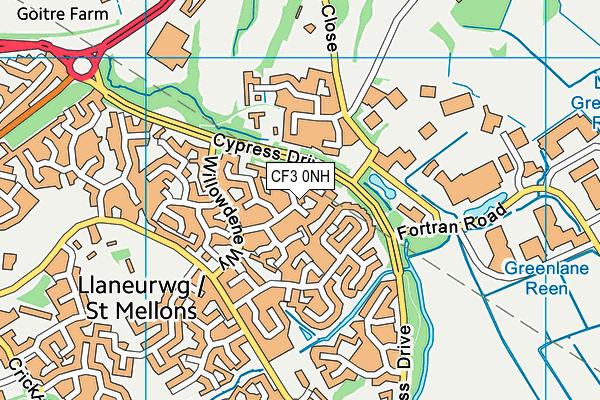 CF3 0NH map - OS VectorMap District (Ordnance Survey)