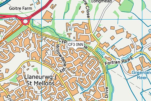 CF3 0NN map - OS VectorMap District (Ordnance Survey)