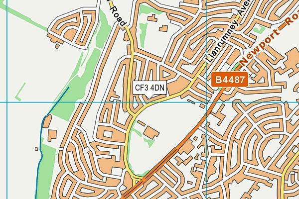 Canolfan Hamdden y Dwyrain map (CF3 4DN) - OS VectorMap District (Ordnance Survey)