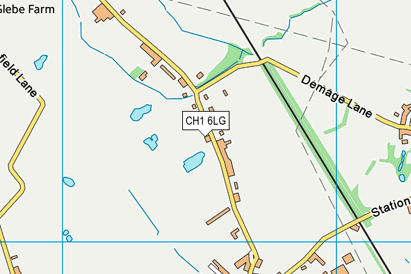 St Oswald's CofE Aided Primary School map (CH1 6LG) - OS VectorMap District (Ordnance Survey)