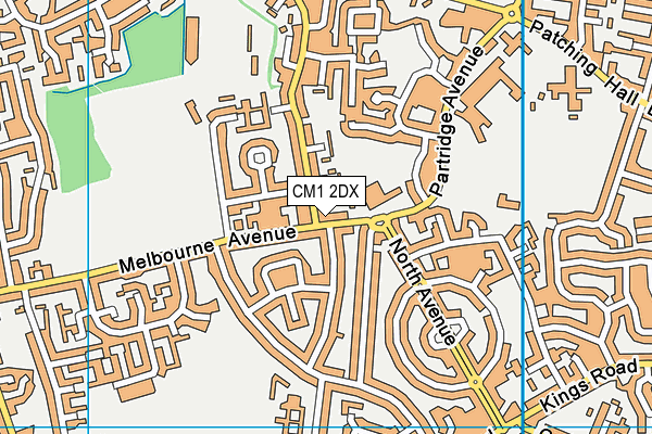 Parkwood Academy map (CM1 2DX) - OS VectorMap District (Ordnance Survey)