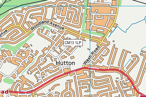 Hutton Community Centre (Closed) map (CM13 1LP) - OS VectorMap District (Ordnance Survey)