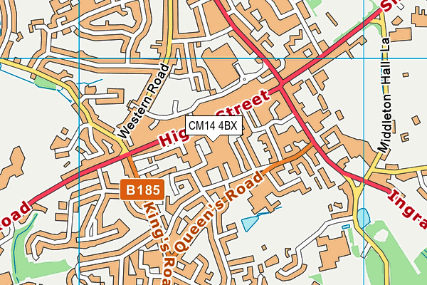 Better Gym Brentwood map (CM14 4BX) - OS VectorMap District (Ordnance Survey)