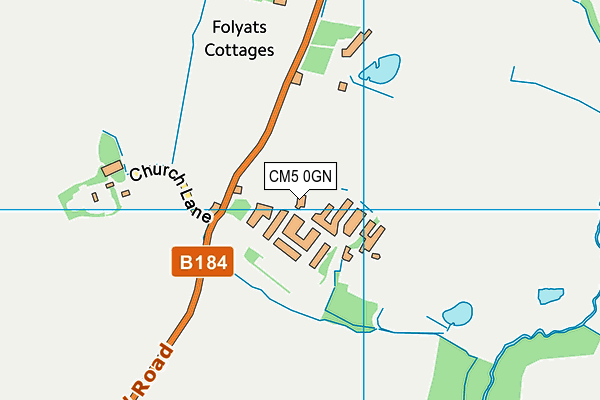 Fyfield Business And Research Park map (CM5 0GN) - OS VectorMap District (Ordnance Survey)